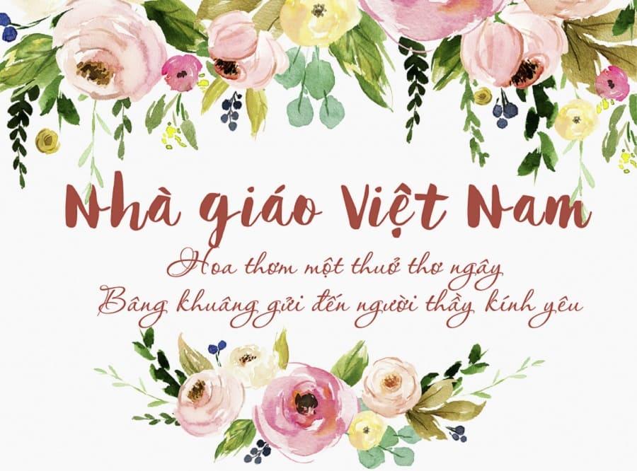 Thơ về thầy cô ngày nhà gió Việt Nam